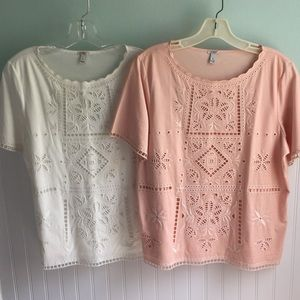 2 J. Crew Tops with gorgeous detail